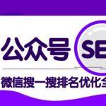 公众号 SEO,微信搜一搜排名优化课,每日被动精准引流上百